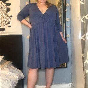 TORRID BLUE COTTON DRESS